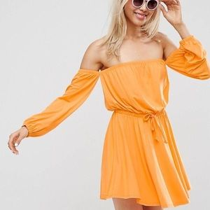 NWT off the shoulder bright sundress 🌼🌈☀️